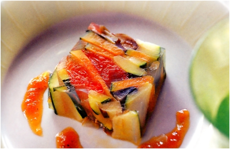 Vegetable Aspic with Agar-Agar