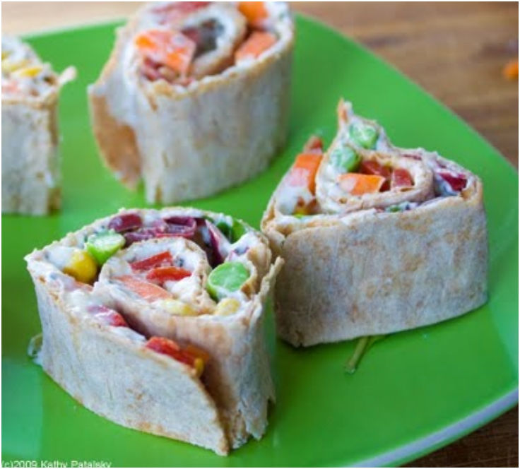Veggie Rainbow WrapsHealthy Kid-Friendly Recipe