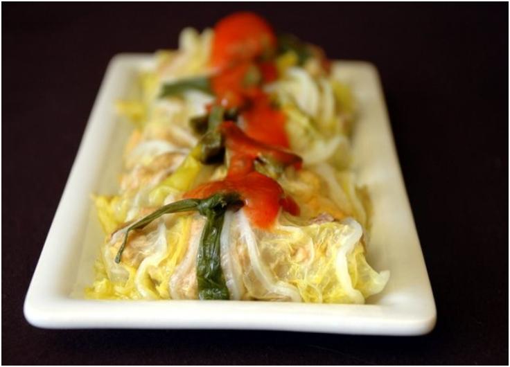 Vietnamese Steamed Stuffed Cabbage (Bap Cai Nhoi Thit)