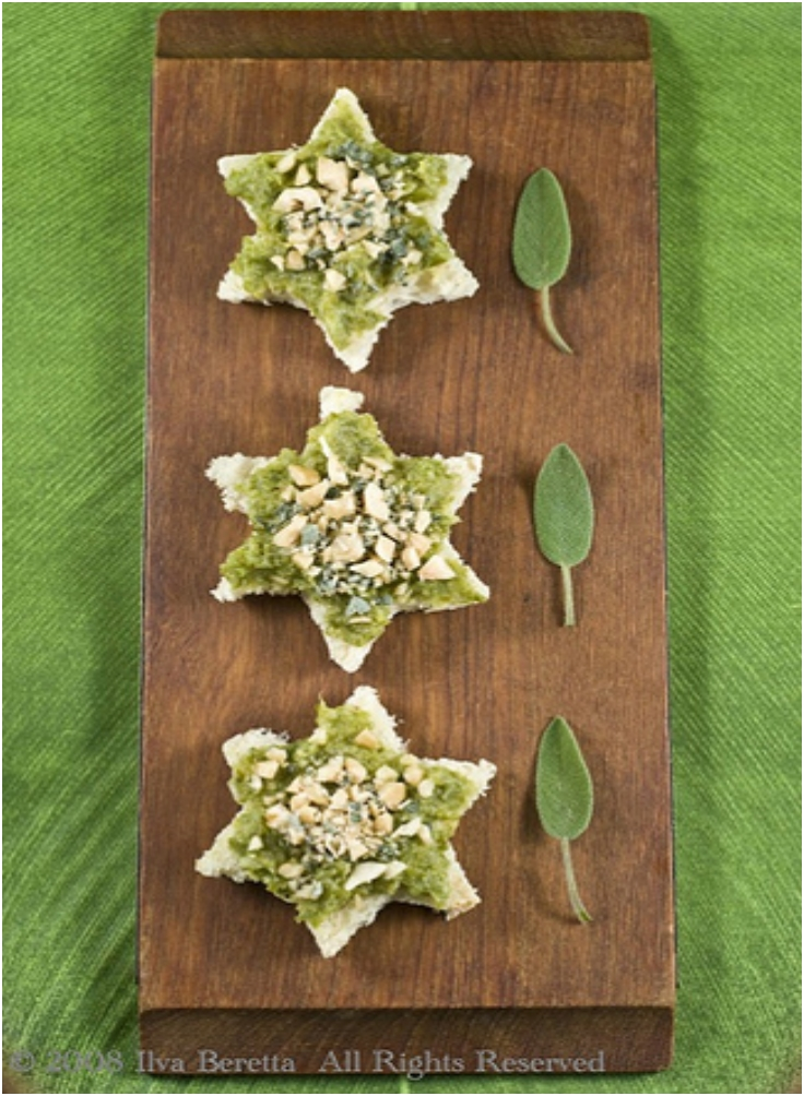 canapes-with-green-bean-and-leek-cream-with-sage-and-hazelnut-topping