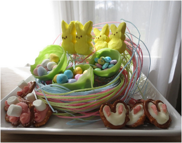 how to make edible easter arrangements