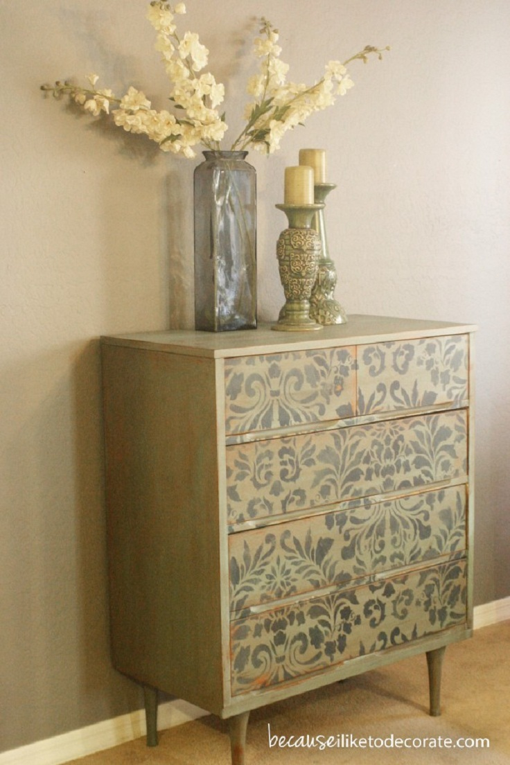 7 diy furniture paint decorations ideas for Ideas for painting a dresser