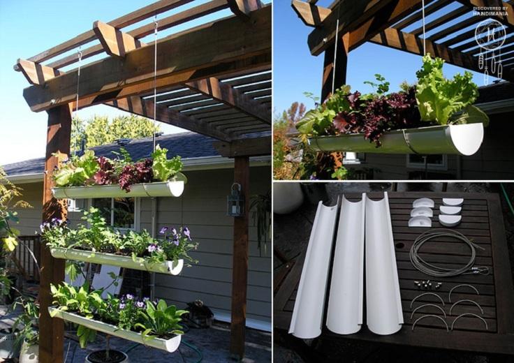hanging-gutter-garden-collage