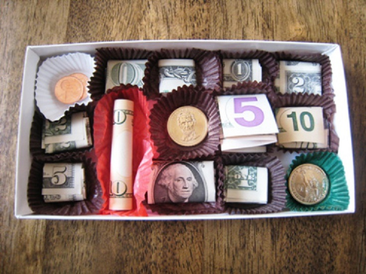 money-chocolates