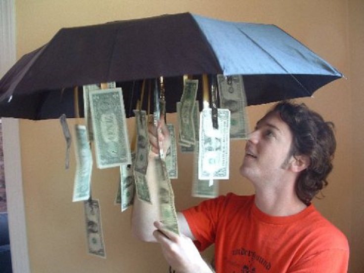 money-umbrella