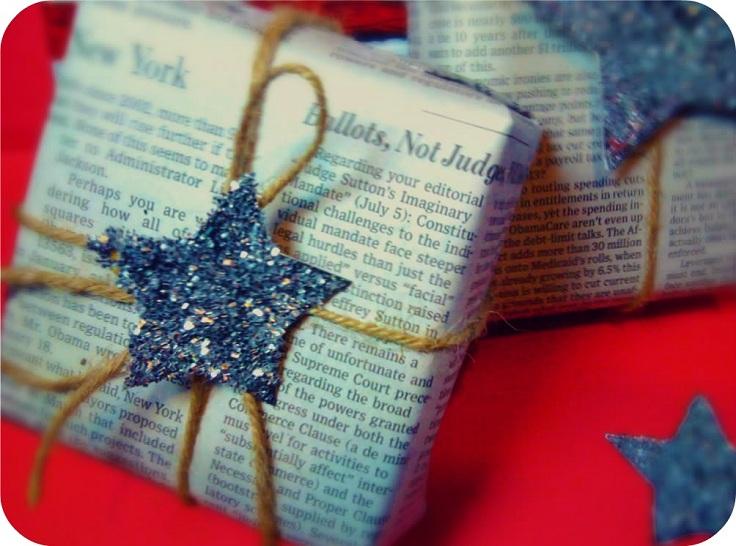 Как упаковать подарок из журнальных листов