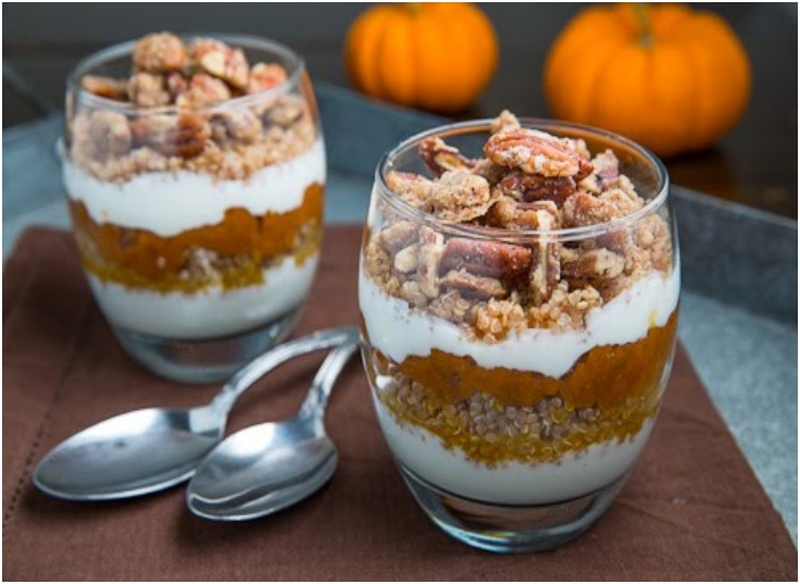 Pumpkin Pie Quinoa Parfait With Gingersnap Pecan Streusel ...