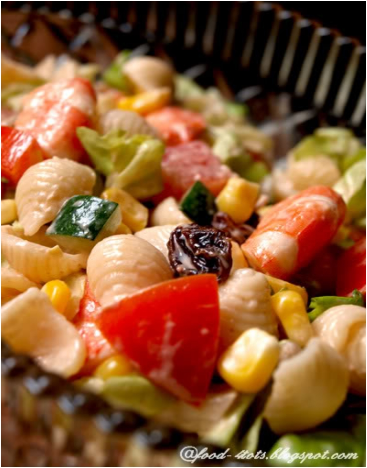rainbow-seafood-pasta-salad