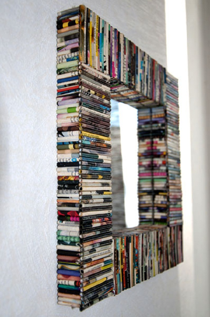 7 diy creative and unique mirror frames ideas for Cool picture frame designs