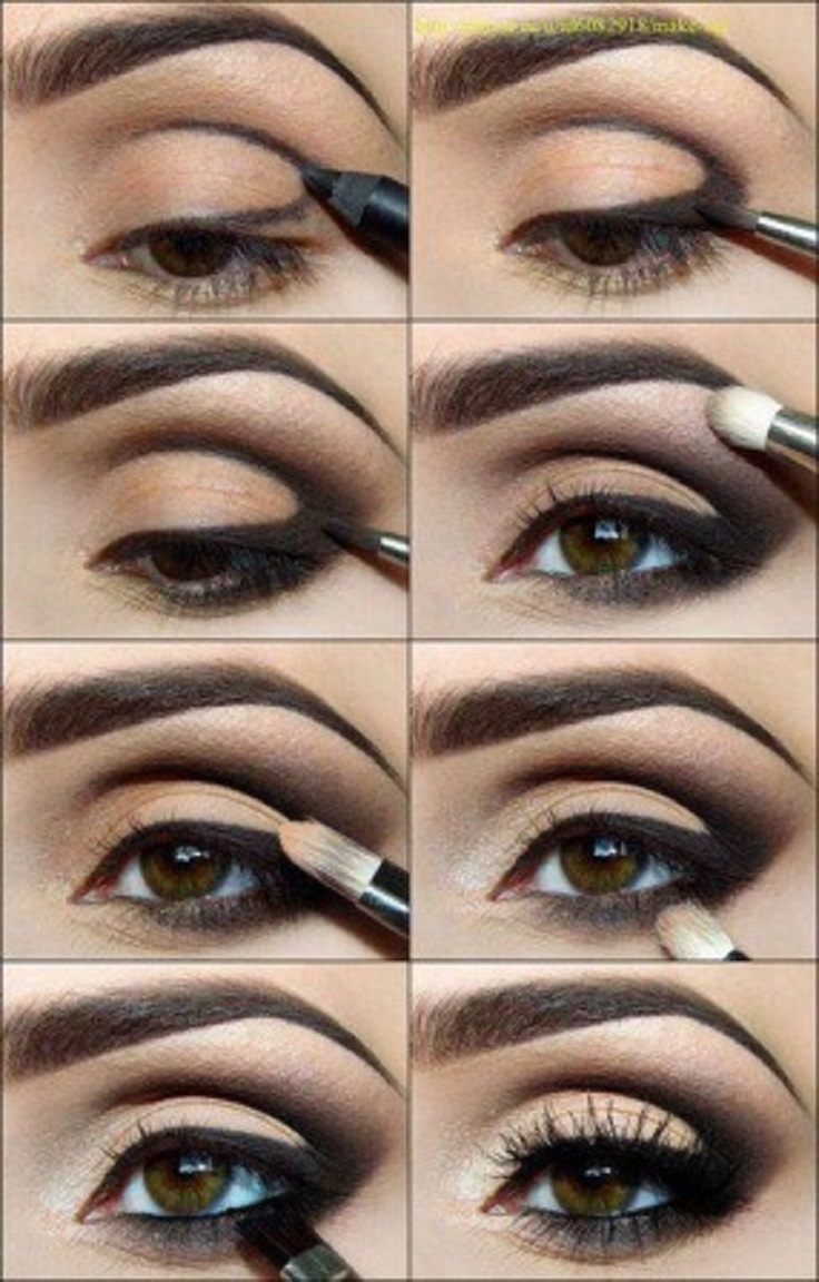 7 makeup tutorials for seductive eyes smokey eyes with nude eyelid eyes3 tutorial baditri Image collections