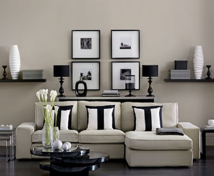 7 stylish black and white living rooms for Monochrome interior design ideas