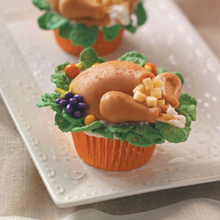 7 fun and creative thanksgiving treats for Creative cupcake recipes and decorating ideas