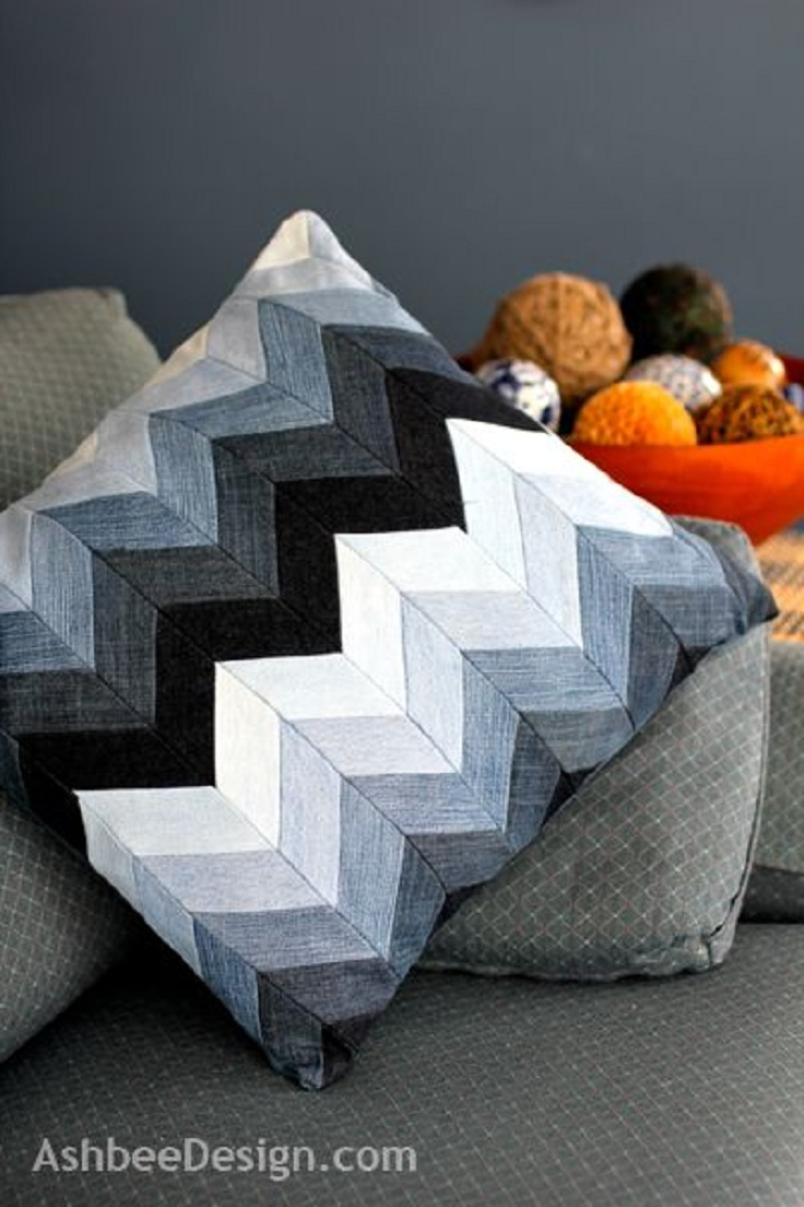 Ways to recycle old jeans - Diy Project And Photo Credit To