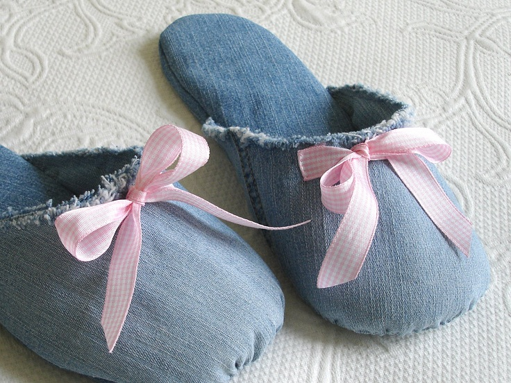 Slippers From Old Jeans