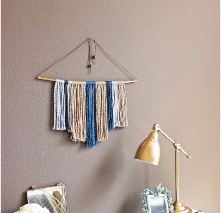 Copper Pipe & Yarn Wall Hanging