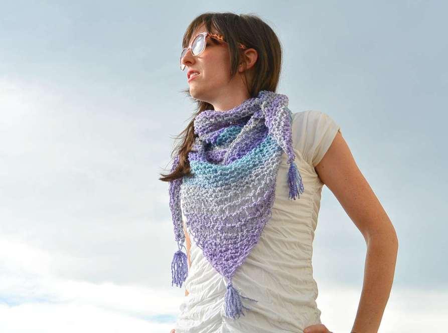 Knit Shawlette Pattern