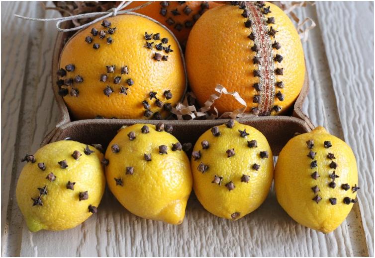 Valencia Orange and Lemon Pomanders