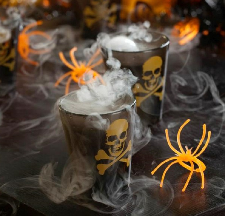 Smoking Skulls Halloween Cocktail