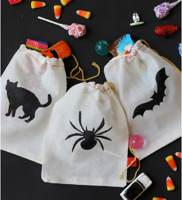 Stenciled Treat Bag