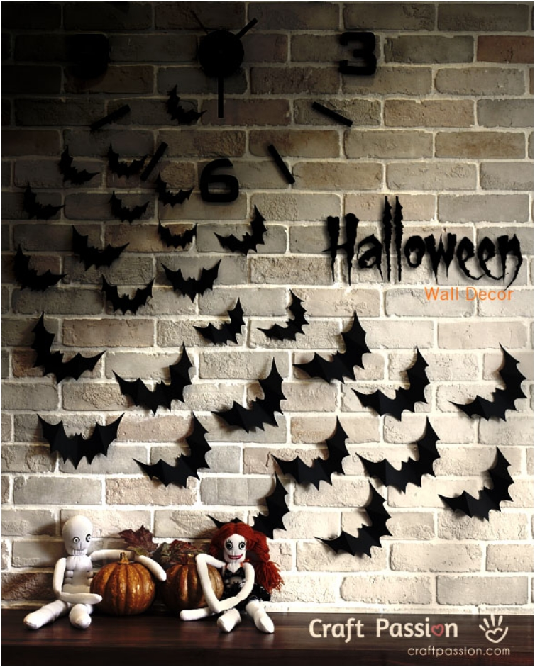 Halloween Wall Decoration Ideas : Diy spooky finishing touches to your halloween decor