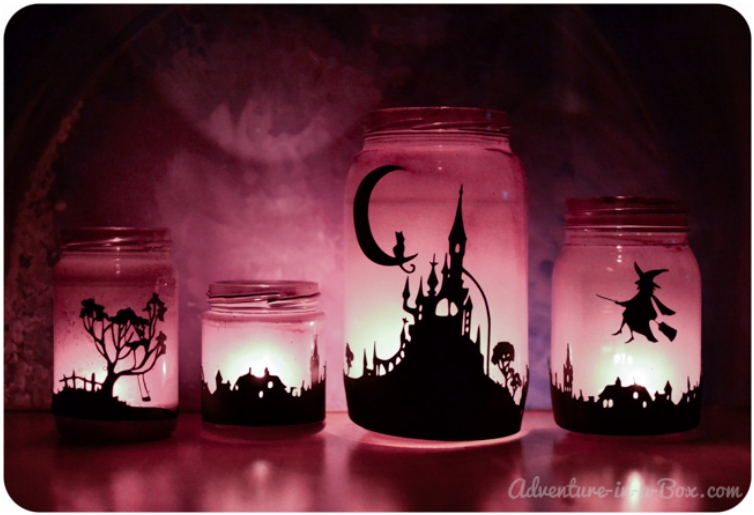halloween-mason-jars-lanterns-with-silhouettes-12