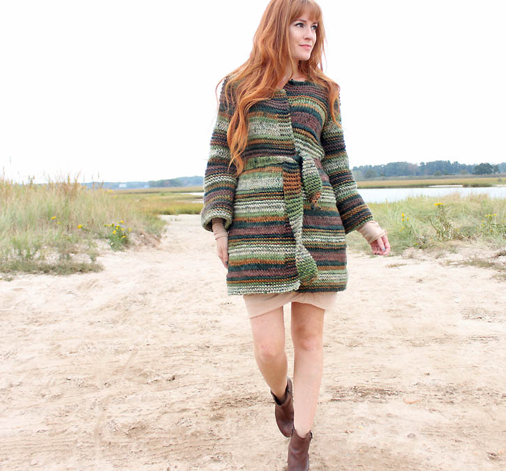 Textured Cardigan [knitting pattern]